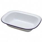 Falcon Enamel 20cm Oblong Pie Dish Traditional White