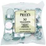 Prices White Tealights Bag x30