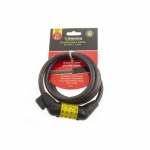 Sterling Locking Cable + Bracket - Combination Self Coiling (1.5mx10mm) (Bike Lock)