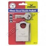 DIS Sterling Closed Shackle Padlock 40mm