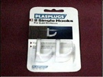 Plasplugs 2 White Single Hooks(SW131)
