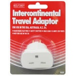 Red/Grey Inter-Continental Travel Adaptor - Blister Pack B52P