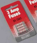 Red/Grey 3 Amp Fuse Pk4 F03
