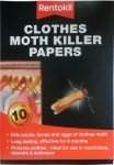 Rentokil Clothes Moth Killer Papers Pk10