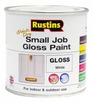 Rustin Small Job Paint Gloss Wht 250ml