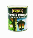 Rustin Black Satin Paint Q/D 250ml
