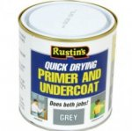 Rustin Q/D Primer & U/Coat Grey 250ml