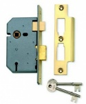 Union 3L Sash Lock Brass 65mm (Y-2277-PB-2.50)