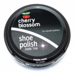Cherry Blossom Shoe Polish 50ml -Dark Tan
