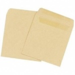 50 Wage Packet Envelopes Self Sealed Manilla Plain (SW75)