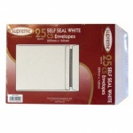 Comet C5 White Self-Seal Envelopes Pk25 229mm x 162mm (SW50)