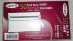 Comet 3.5x6'' White Self-Seal Pk50 (SW12)