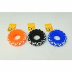 Dog Toy Big Tyre W/print 12cm