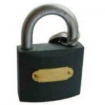 Tri-Circle 38mm Brass Plated Padlock (264)
