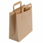 Brown T/Away Bag With Handle 7x10x8.5