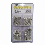 SAFETY PINS ASST PK 125
