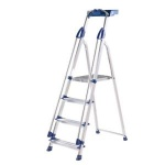 Pro 4T Step ladder Aluminium Blue Seal