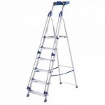 Pro 6T Step Ladder Aluminium Blue Seal