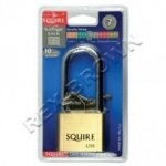 Squire Brass Padlock Lion Long Shackle 40mm