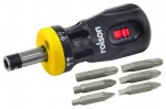 Rolson Tools Ltd 12-in-1 Stubby Ratchet Screwdriver 28402