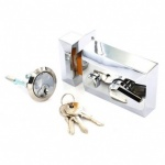Narrow Chrome Nightlatch 3 Keys (S1729)