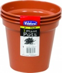 WHITEFURZE 15CM 6IN POT SET 3 TCOTTA