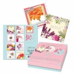 10 Mixed Floral Birthday Cards in Keepsake Box