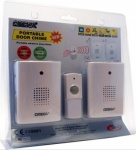 ****Omega Twin  Wireless Battery 100m Door Chime with LED Light