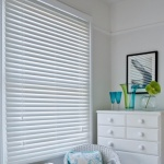 PVC Venetian Blind,Std Drop,White-75cm