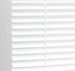 PVC Venetian Blind,Std Drop,White-120cm