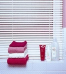 PVC Venetian Blind,Std Drop,White-180cm