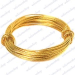 Bulk Hardware Picture Wire Brass 3.5mtr Pack of 8