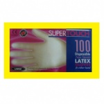Supertouch 100 Latex Gloves - Large Powdered