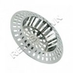 1 1/2'' Chrome Plated Sink Strainer - Bulk Pack 10pcs