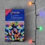 Premier Indoor & Outdoor 200 M-A LED Supabright MultiColour/Green Cable.