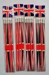 Pencil W/Eraser Union Jack 4pcs Set