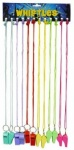 Coloured Sport Whistles - Pack of 12