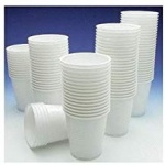 ****Plastic Drinking Cups 180cc pk100 - White