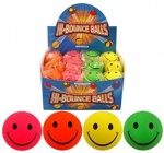 BALL SMILE FACE 6.2CM 4 ASTD NEON COLS