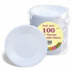 10'' Thermo Disposable Plates Pk100