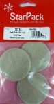 Star Pack 50mm Self Adhesive Round Felt Pad Pk3(72116)