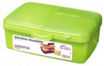 Sistema Coloured Lunch/Picnic Food Box Slimline Quaddie Mixed