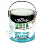 Crown Quick Drying Gloss Brilliant White 750ml