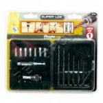 16pc Super Lok Drill Bit Set