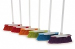 Brights S/Touch Broom Handle Complete with Head Asst. Colours