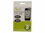 2pk Screen Savers For I-Phone 4G In PP Bag With Insert Card