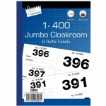 Jumbo Cloakroom Tickets 1-400