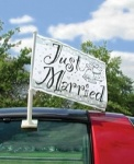 ''JUST MARRIED'' CAR FLAG 15''