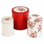 KA Set of 3 Storage Tins - Scarlet Posey