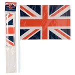 Pk5 12x8'' Union Jack Plastic Flag With Stick In PBHC